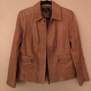 Alfani Tan Leather Jacket